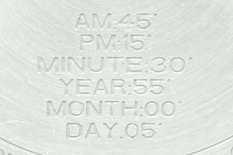 Calibre S Legend engraved on case back